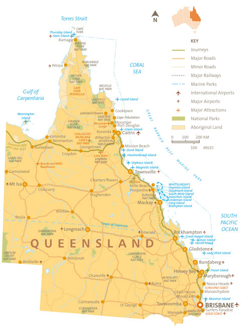 QLD-Map Detailed Orange-480